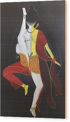 Ardhanarishwar Wood Print by Pratyasha Nithin