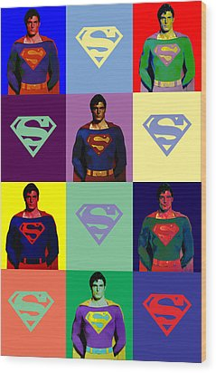 Are You Super? Wood Print by Saad Hasnain