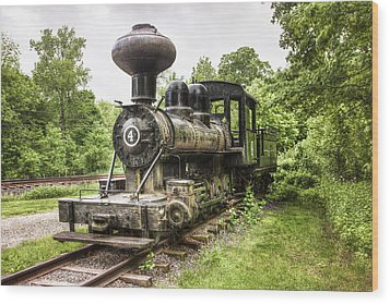 Wood Print featuring the photograph Argent Lumber Company Engine No. 4 - Antique Steam Locomotive by Gary Heller