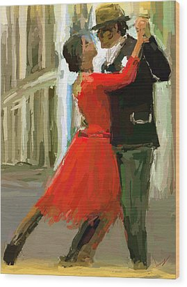 Argentina Tango Wood Print by James Shepherd
