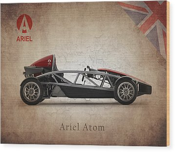 Ariel Atom Wood Print by Mark Rogan