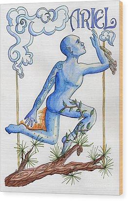 Ariel Wood Print