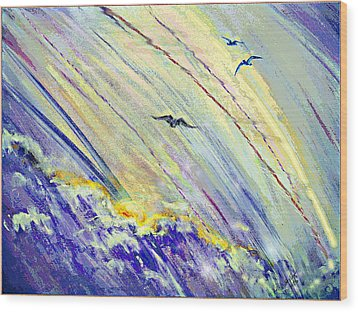 Arising Wood Print by Desline Vitto
