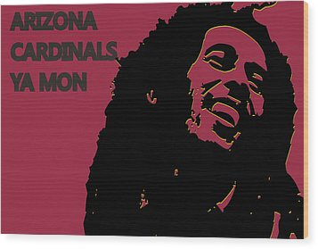 Arizona Cardinals Ya Mon Wood Print by Joe Hamilton