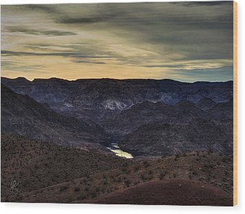 Arizona Landscape 001 Wood Print by Lance Vaughn