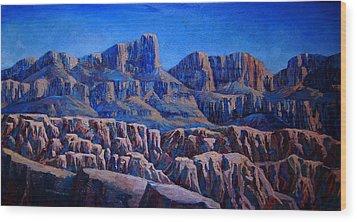 Arizona Landscape At Sunset Wood Print by Dan Terry