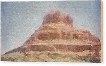 Arizona Mesa Wood Print by Jeff Kolker