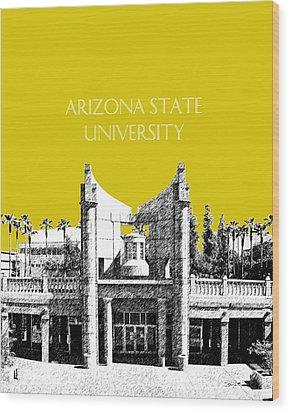 Arizona State University 2 - Hayden Library - Mustard Yellow Wood Print by DB Artist