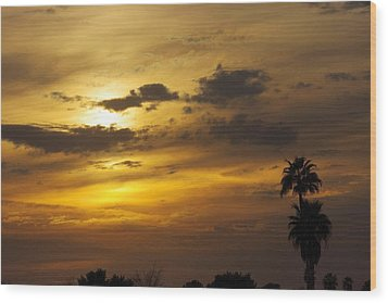 Arizona Sunset Wood Print