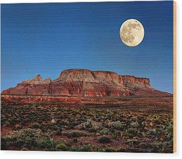 Arizona Supermoon 003 Wood Print