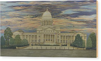 Arkansas State Capitol Wood Print by Mary Ann King