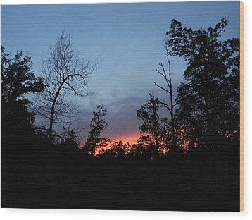 Wood Print featuring the photograph Arkansas Sunset by Yolanda Raker