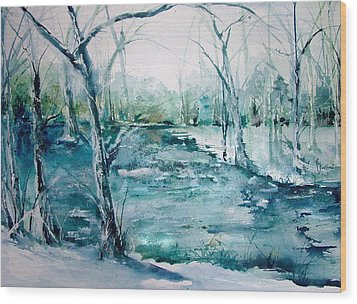 Arkansas Winter Wood Print by Robin Miller-Bookhout