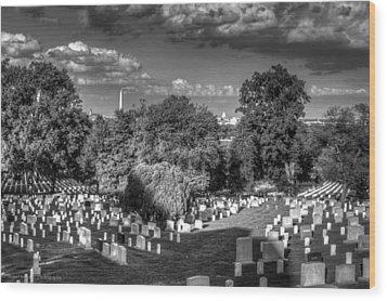 Wood Print featuring the photograph Arlington Cemetery by Ross Henton
