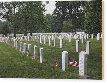 Arlington National Cemetery - 01132 Wood Print by DC Photographer