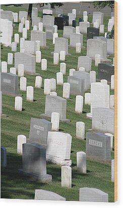 Arlington National Cemetery - 12122 Wood Print by DC Photographer