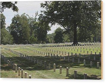 Arlington National Cemetery - 121221 Wood Print by DC Photographer