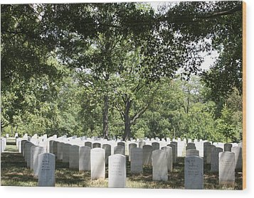 Arlington National Cemetery - 121245 Wood Print by DC Photographer