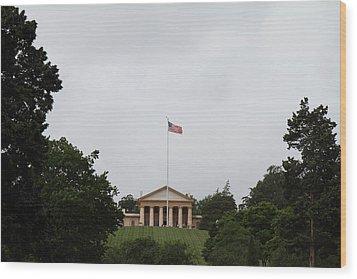 Arlington National Cemetery - Arlington House - 01131 Wood Print by DC Photographer