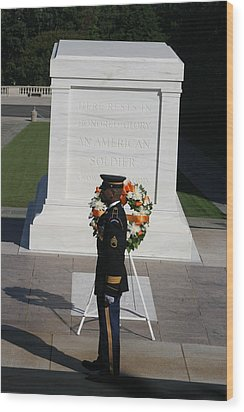 Arlington National Cemetery - Tomb Of The Unknown Soldier - 121212 Wood Print by DC Photographer