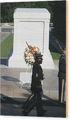 Arlington National Cemetery - Tomb Of The Unknown Soldier - 121213 Wood Print by DC Photographer