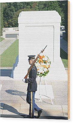 Arlington National Cemetery - Tomb Of The Unknown Soldier - 121214 Wood Print by DC Photographer