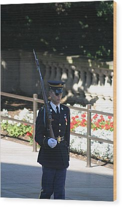 Arlington National Cemetery - Tomb Of The Unknown Soldier - 121215 Wood Print by DC Photographer