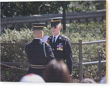 Arlington National Cemetery - Tomb Of The Unknown Soldier - 121221 Wood Print by DC Photographer
