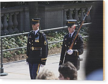 Arlington National Cemetery - Tomb Of The Unknown Soldier - 121222 Wood Print by DC Photographer