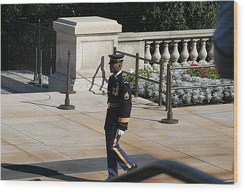 Arlington National Cemetery - Tomb Of The Unknown Soldier - 12125 Wood Print by DC Photographer