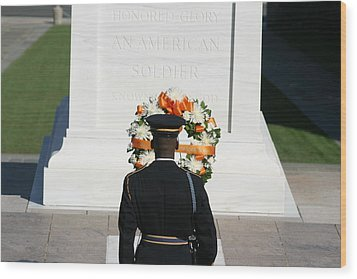 Arlington National Cemetery - Tomb Of The Unknown Soldier - 12128 Wood Print by DC Photographer