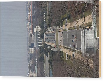 Arlington National Cemetery - View From Arlington House - 12121 Wood Print by DC Photographer