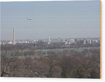 Arlington National Cemetery - View From Arlington House - 12122 Wood Print by DC Photographer
