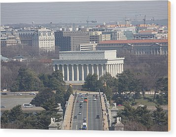 Arlington National Cemetery - View From Arlington House - 12123 Wood Print by DC Photographer