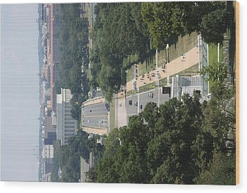 Arlington National Cemetery - View From Arlington House - 12125 Wood Print by DC Photographer