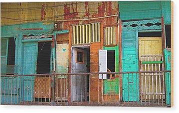 Armed. Panama City Wood Print by Fran Hogan