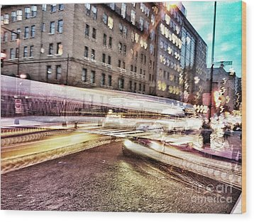 Army And Navy Rush Hour Wood Print by Jim Moore