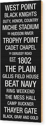 Army College Town Wall Art Wood Print by Replay Photos