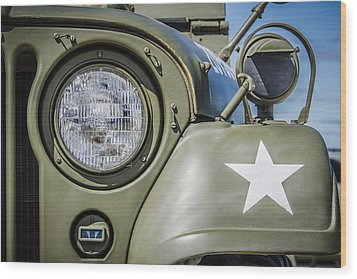 Army Jeep Wood Print