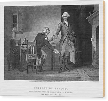 Arnold & Andre, 1780 Wood Print by Granger