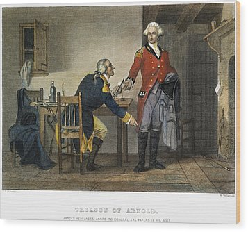 Arnold And Andre, 1780 Wood Print by Granger