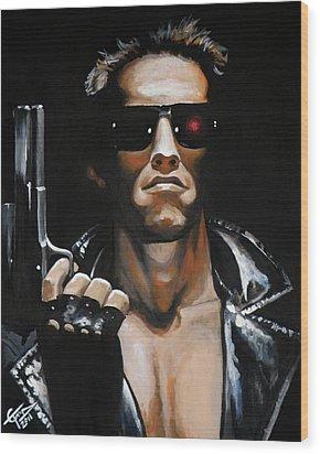 Arnold Schwarzenegger - Terminator Wood Print