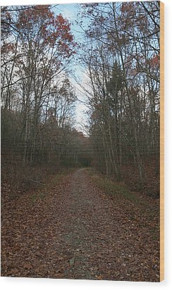 Around The Bend Wood Print by Neal Eslinger