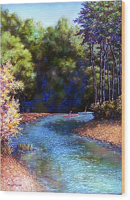 Around The Bend Wood Print by Tanja Ware