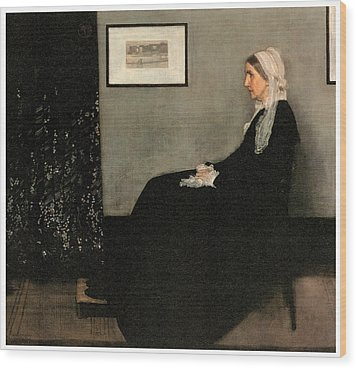 Arrangement In Grey And Black No 1 Wood Print by James Abbott McNeill Whistler