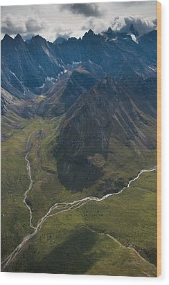 Arrigetch Peaks Wood Print by Roger Clifford