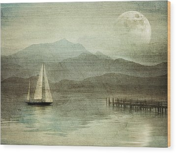 Arrival Wood Print by manhART