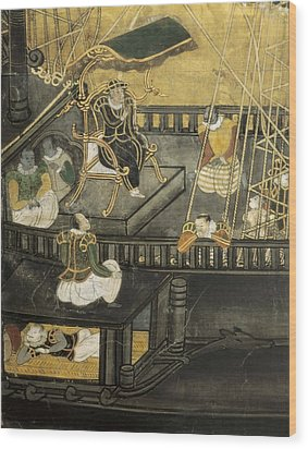 Arrival Of The Portuguese To Japan Wood Print by Everett