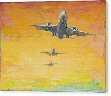 Arrivals #4 Wood Print by David Palmer