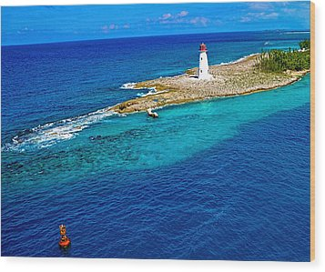 Arriving In The Bahamas Wood Print by Pamela Blizzard